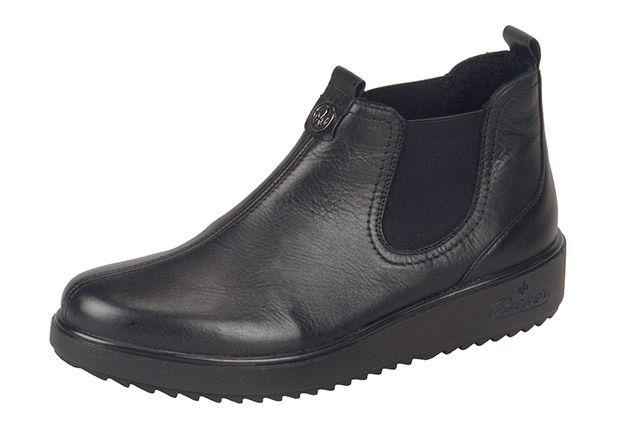 Soňa - Dámska obuv - Členková obuv - Čierna dámska zateplená obuv Rieker