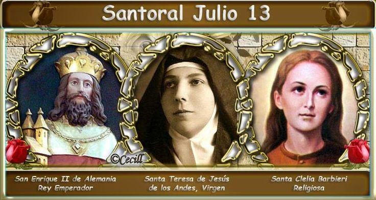 Vidas Santas: Santoral Julio 13