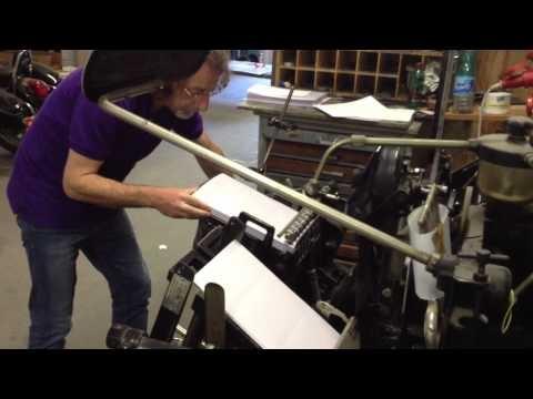 Il Tipografo Andrea Landi all'opera