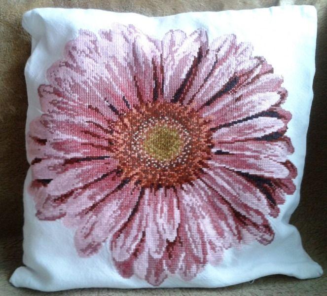 Różowy gerber - Joanna-136 - Poduszki