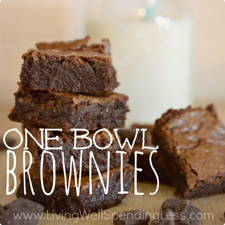 One Bowl Brownies | Best Brownie Recipe Ever | Easy Brownie Recipe