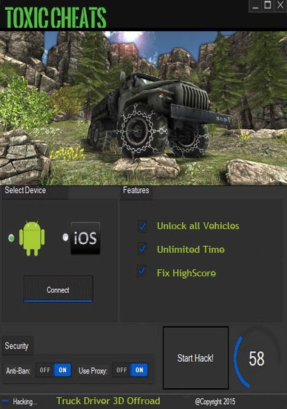 Truck Driver 3D Offroad hack cheats tool unlock all vehicles - Toxic Cheats