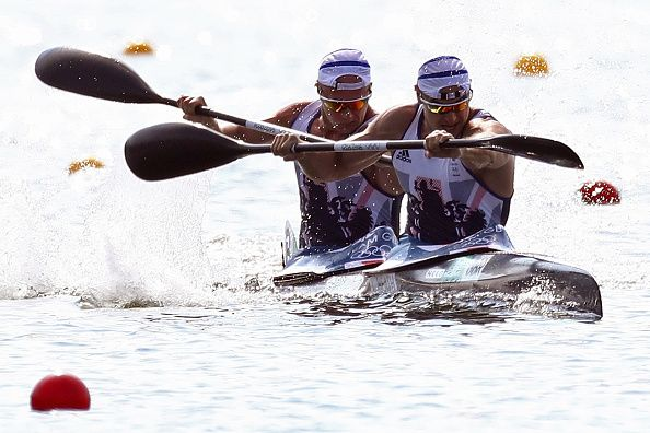Liam Heath and Jon Schofield sprint to a silver medal in the men's kayak double 200m