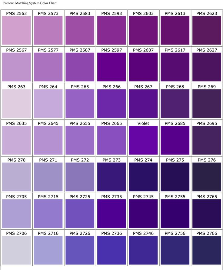 Best  Shades Of Purple Chart Ideas On   Purple