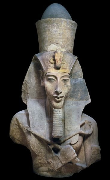 Bust of a colossal statue of 'Amenhotep IV'... | egypt ...