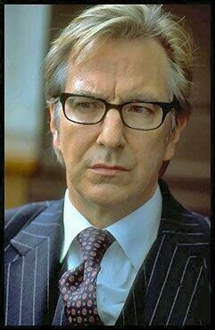 Alan Rickman as John Gissing...he's super sexy in glasses. (...or NOT in glasses! *cough*)