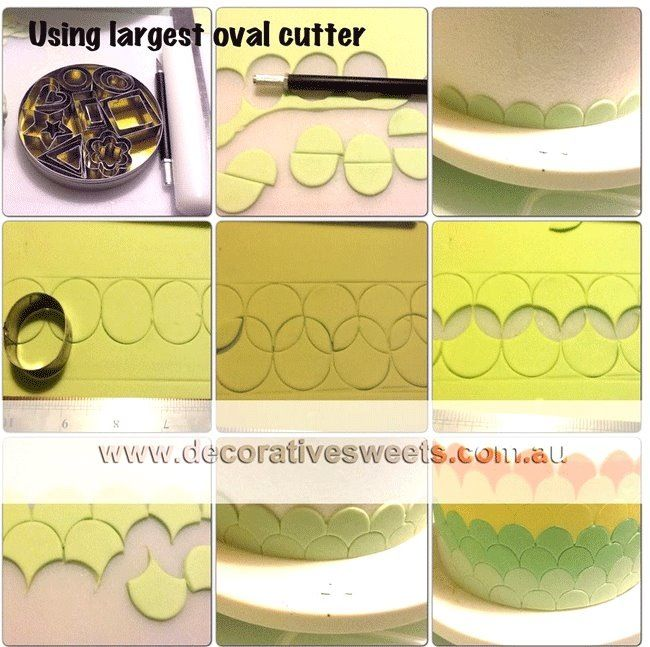 Scale effect on cake using oval cutters