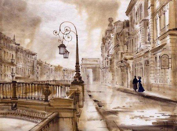 Зимний Петербург глазами художницы Светланы Гаджиевой