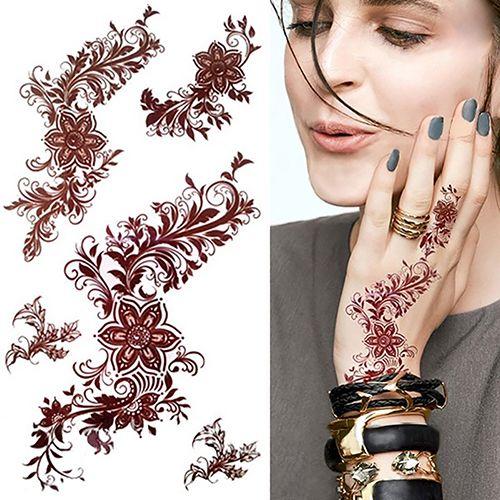 1Pc Flower Tattoo Decals Body Art Decals 3D Waterproof Paper Temporary Tattoo