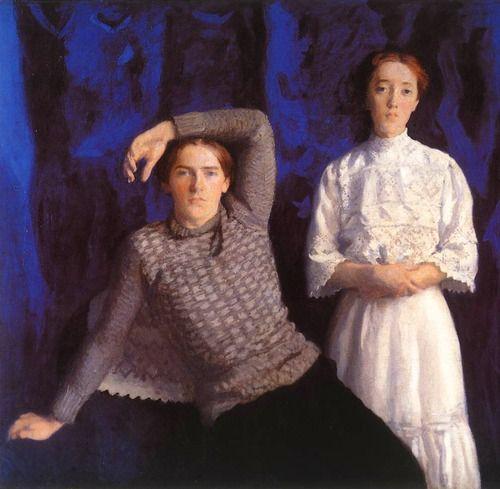 Károly Ferenczy_Double Portrait (Béni and Noémi)_1908 Magyar Nemzeti Galéria, Budapest