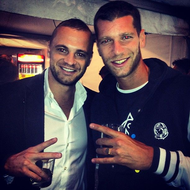 With Slovakian rapper Majk Spirit -  August 2013