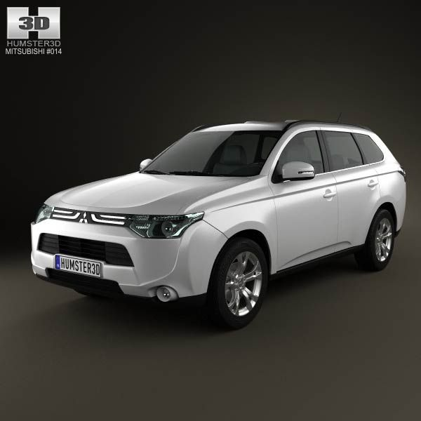 Mitsubishi Outlander 2013  3d model from humster3d.com. Price: $75