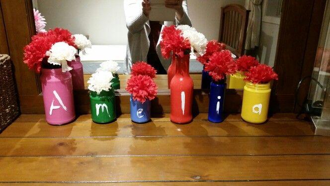 Old jars turned Colourful vases