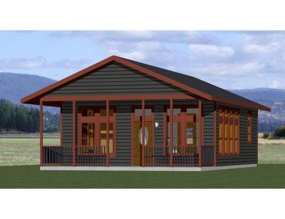 24x30 House 1 Bedroom 1 Bath 720 Sq Ft Pdf Floor Plan Etsy In 2020 Floor Plans Small House Plans House Floor Plans