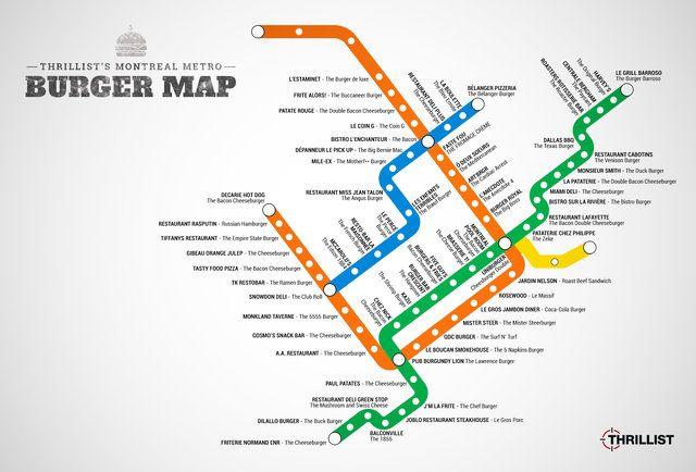 The Montreal Metro Burger Map