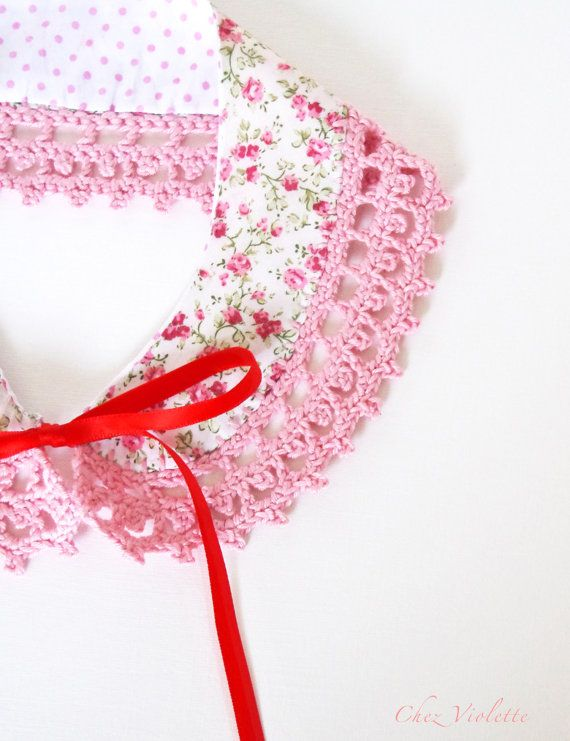 Collar Necklace Detachable Handmade crochet Peter by chezviolette