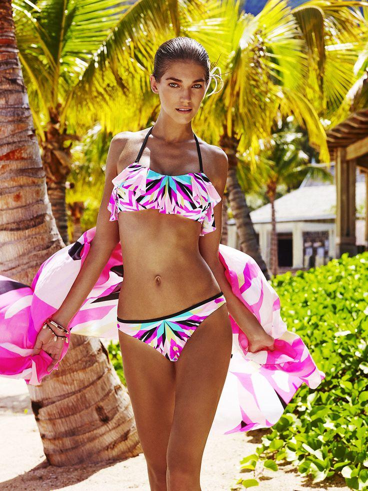 Reserved Swimsuit Summer 2016 #elegant#colorful#basquine#pink