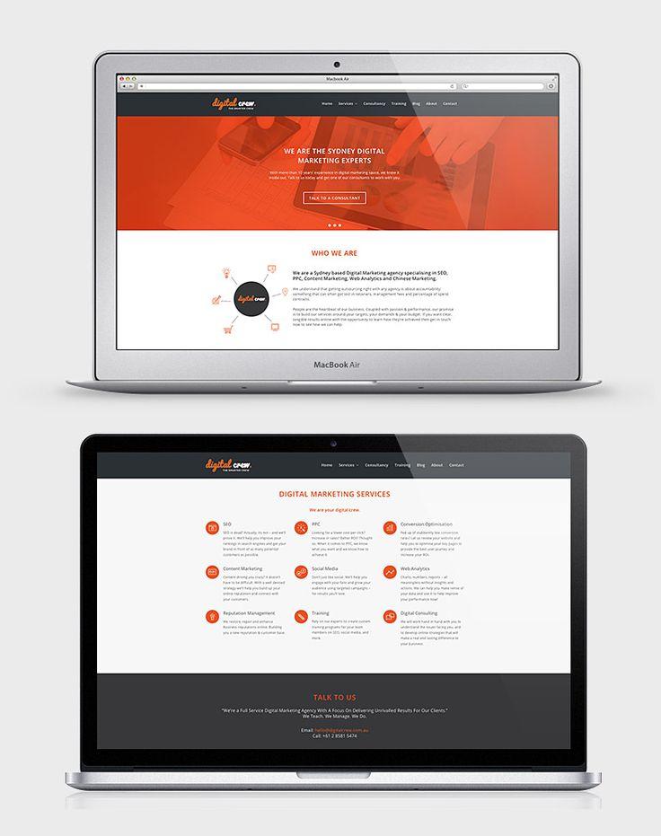 Digital Crew - Website on Macbook mockup