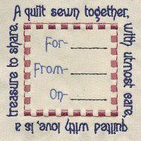 Quilt Label  4x4