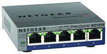 NETGEAR - ProSafe Plus 5-Port 10/100/1000 Gigabit Ethernet Switch - Gray, GS105E-200NAS