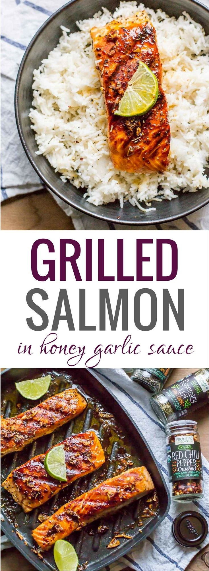 This easy 15-minute grilled honey garlic salmon is perfect for days when you crave a fancy meal but don't want to pay for it or spend hours making it. It is so finger-licking good that you'll imagine you are in an upscale restaurant enjoying a gourmet meal. #grilled #salmon #cookwithpurpose #sponsored via @simmertoslimmer