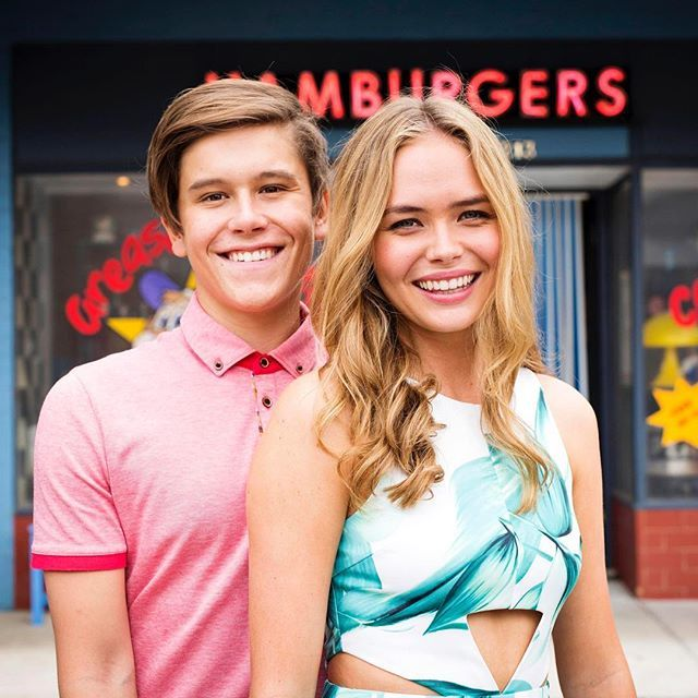Ahhh… young love? @lillyvandermeer @officialjaiwaetford #Neighbours