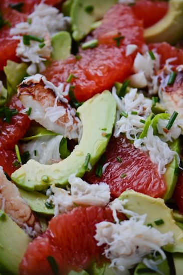 Grapefruit, Avocado, and Crab Salad.