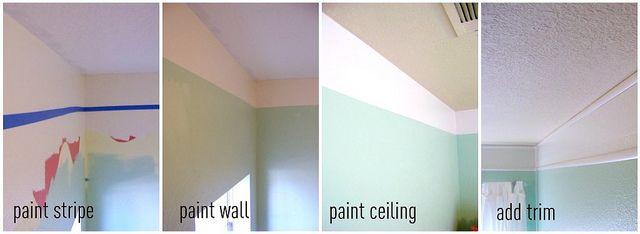 Faux crown molding - more like a ceiling chair rail