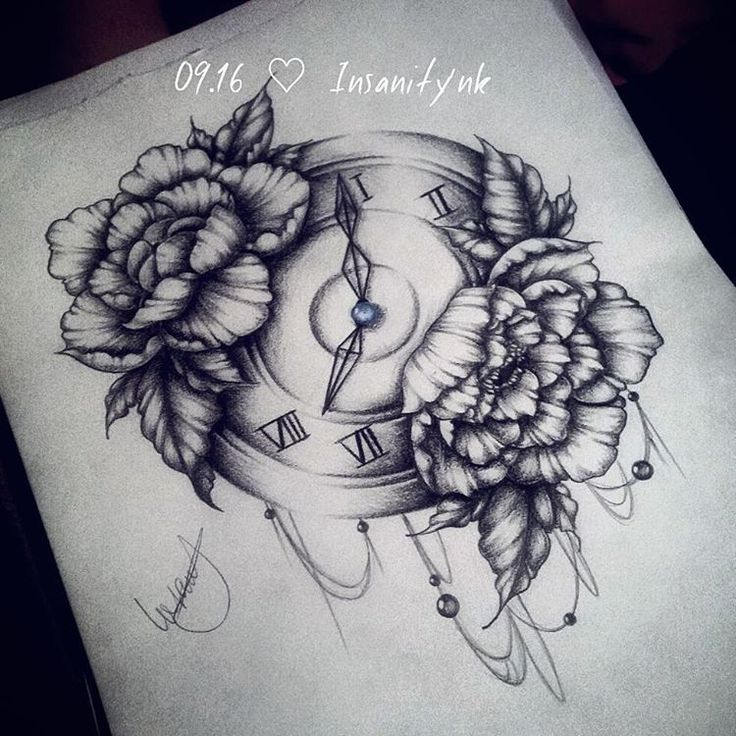 peony tattoo. smaller and heart shaped watch instead. love the dangling jewels.