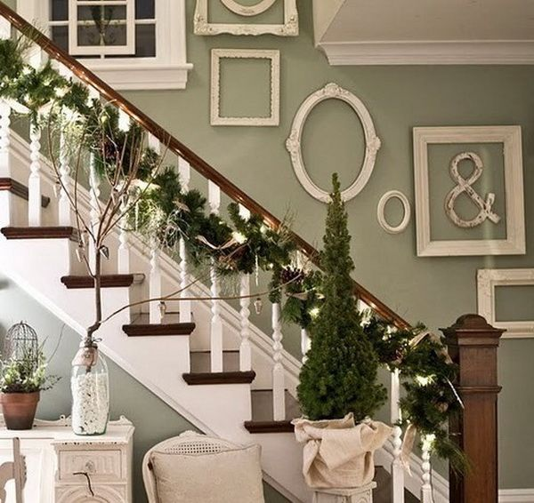 Christmas Staircase Decorations Home Help Pinterest