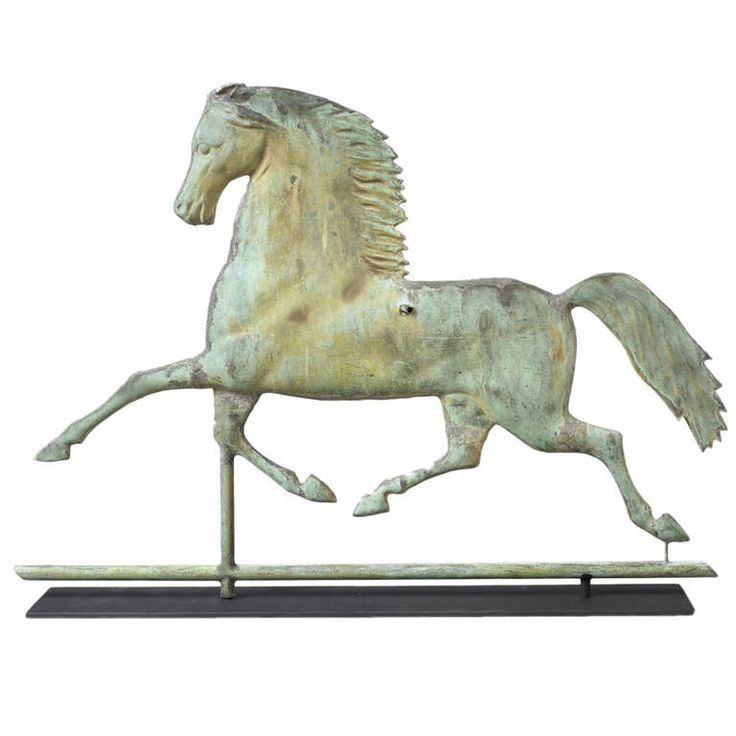 Blackhawk Horse Weathervane | From a unique collection of antique and modern weathervanes at http://www.1stdibs.com/furniture/folk-art/weathervanes/