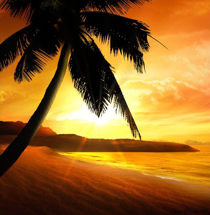 Открыток своими, картинка пляж анимация