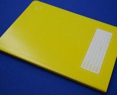 libreta amarilla cuadro grande 7mm