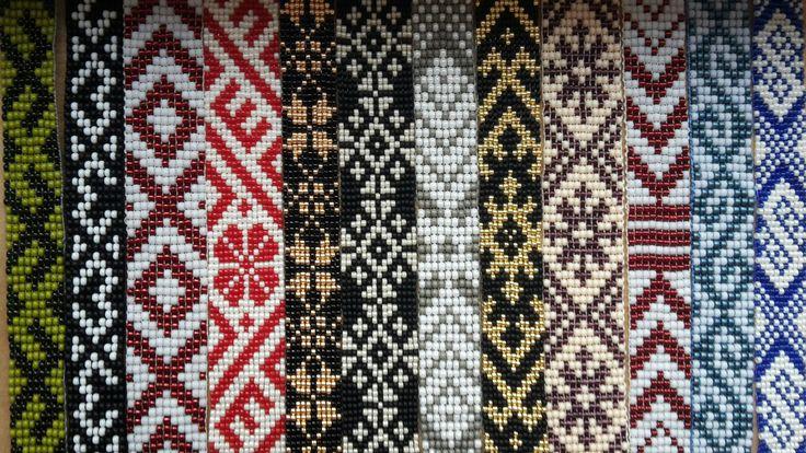Loom bead. Latvian. Ethno.