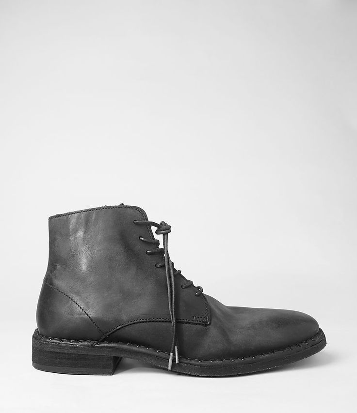 All Saints | Mens Trap Boot (Washed Black) ALL SAINTS Ask for Kristiany to shop & get styled at the Lincoln Road, Miami Beach location.