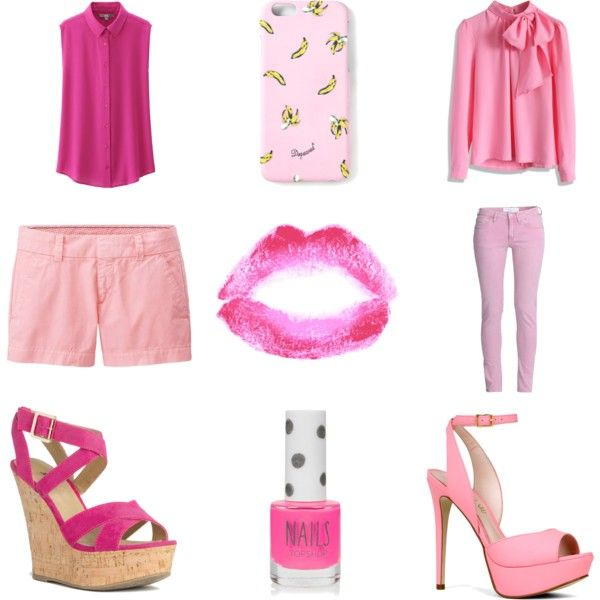 Pink summer by kami-muffin on Polyvore featuring moda, Chicwish, Uniqlo, IRO, ALDO, JustFabulous, Dsquared2 and Topshop