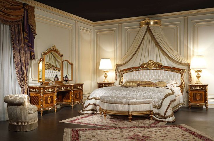Walnut bedroom furniture Louis XVI Noce e Intarsi art. 2011 | Vimercati Classic…