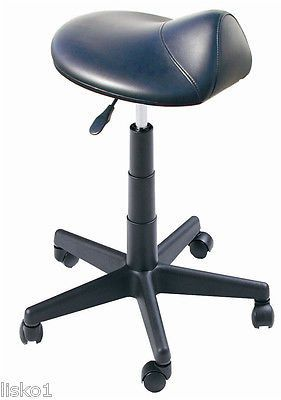 DINA MERI #915 Rodeo HairCutting - Spa Stool on wheels, gas-lift seat Heavy duty metal frame construction. 5 star base with casters provides easy mobility. Padded seat with durable vinyl covering, ava