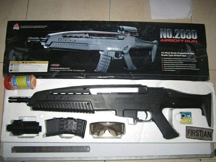 2030  Model XM8  MerkJunming  BahanPlastik ABS  Pemberat  WarnaHitam  Skala 1:1  Panjang 90 cm  Beratkena 4kg FPS 300 (BB 012 gr)  Type Spring Rifle  Made In China  Mag System Kocok  Kemasan Box  Kelengkapan Unit Magazine Kacamata Laser Dummy Scope BB Sample BB Bonus 1 kaleng Harga:Rp.300.000  #airsoftgun #softgun #indonesia #hobby #sniper #rifle #handgun #smg #softguns #military #surabaya #jakarta #shotgun #airsoft #hobbys #manly #toys #toy #airsoftgunindo #tactical #army #tentara #navy…