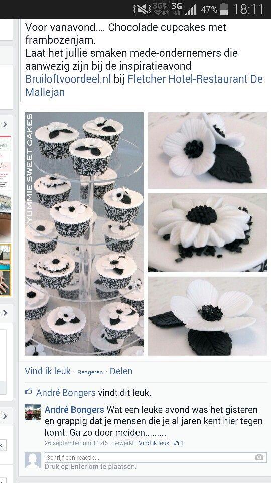Cupcakes zwart wit