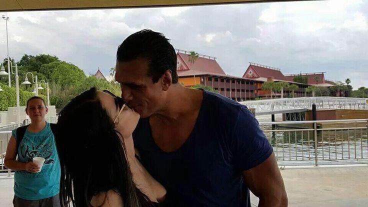 WWE Superstar Alberto Del Rio (Alberto Rodriguez) and his rumored new girlfriend WWE Diva Paige (Saraya-Jade Bevis) at Disneyland #WWE