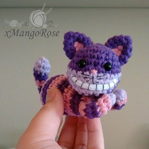 xmangorose A little preview of my Cheshire Cat. Crochet pattern coming soon. =)…