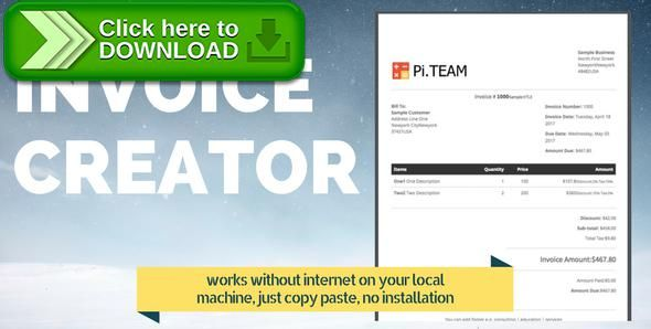 [ThemeForest]Free nulled download Invoice Creator from http://zippyfile.download/f.php?id=46459 Tags: ecommerce, invoice creator, invoice creator app, invoice creator free, invoice creator free online, invoice creator online, invoice creator online free, invoice creator software, invoice creator template, invoice generated code, invoice generator