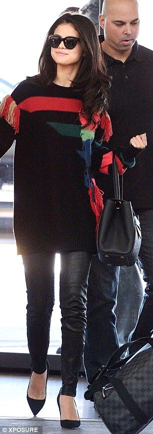 There is no stopping her:Earlier on, she had been spotted arriving at JFK Airport in NYC dressed in a different outfit, meaning she must have changed during the flight