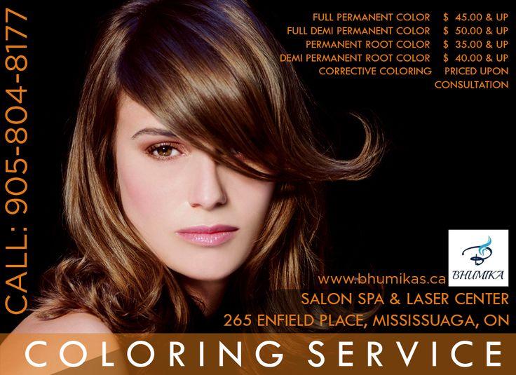 Hair Colour Service - Bhumika  Salon, Spa & Laser Center in Mississauga Call For Appoinment : 905-804-8177 http://www.bhumikas.ca/ #Nails #nail #Beauty#Fashion #cute #nails #nailart #love #manicure#beautiful #cute #white #pedicure #shimmer #glitter #silver #spa #salon#lasercenter #mississauga #brampton