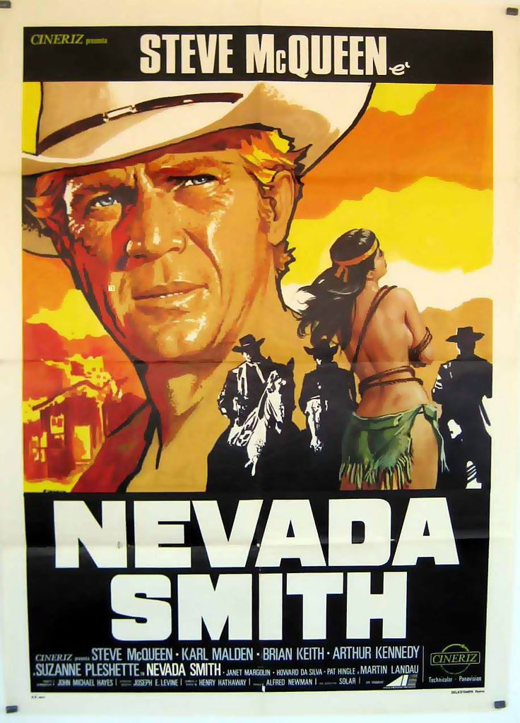 NEVADA SMITH - Steve McQueen - Directed by Henry Hathaway - Paramount - Movie Poster.