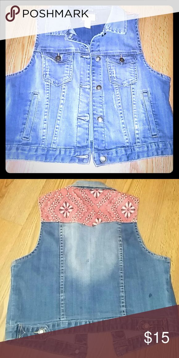 Blue Jean Denim Vest denim blue jean vest , pair this up with your favorite jeans or wear over a sundress for a cool fashionable look Forever 21 Jackets & Coats Vests