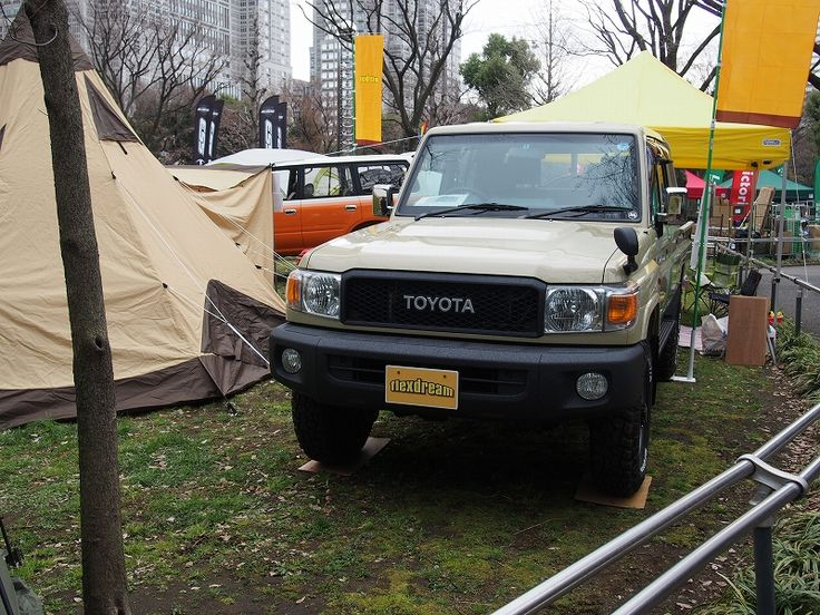ランクル70 GRJ79K ピックアップトラック×LINE-X塗装 バンパー・サイドステップ・荷台をLINE-X塗装! 【東京アウトドアフェスティバル】出展しました : Toyota Landcruiser70