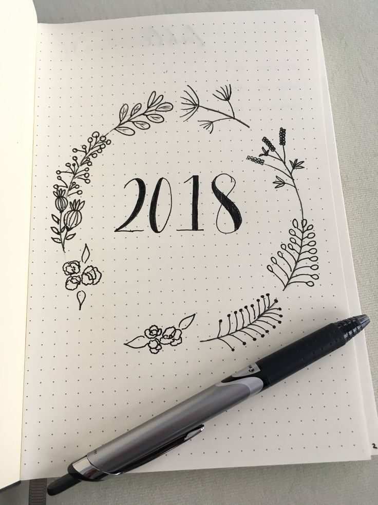 2018 ~ New Year ~ New Beginnings ~ New Bullet Journal Inspiration