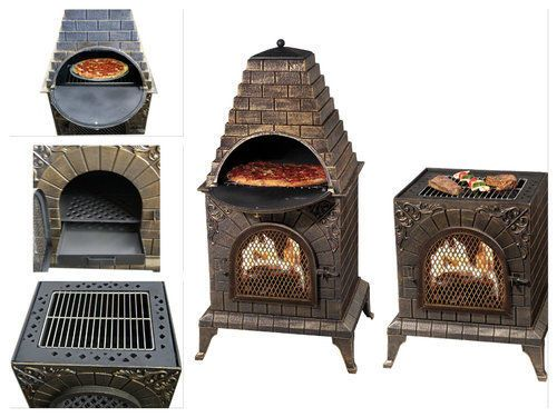 Outdoor-Pizza-Oven-Fireplace-Wood-Burning-Garden-BBQ-Grill-Maker-Stone-Kit-Stove